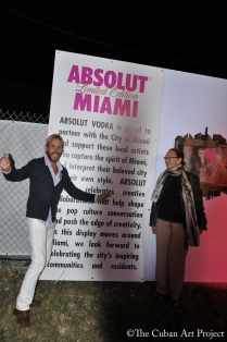 ABSOLUT VODKA'S Pop- Up gallery in Wynwood at Art Basil on December 1, 2011 in Miami, Florida. (12 of 75)