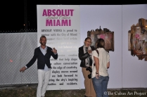 ABSOLUT VODKA'S Pop- Up gallery in Wynwood at Art Basil on December 1, 2011 in Miami, Florida. (31 of 75)
