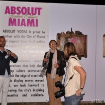 ABSOLUT VODKA'S Pop- Up gallery in Wynwood at Art Basil on December 1, 2011 in Miami, Florida. (32 of 75)
