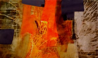 Pedro Avila Gendis. Orquidia. Acrilic on Canvas. 36-in-x-60-in